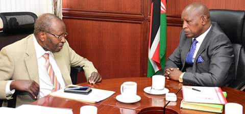 IGRTC Chairman at courtesy call to Nyeri County Government