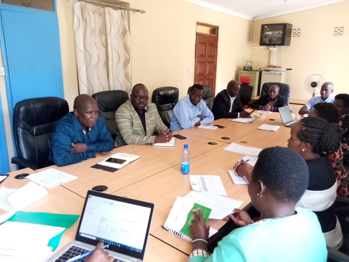 IGRTC CEO  meeting with   Kitui County IGCC team .