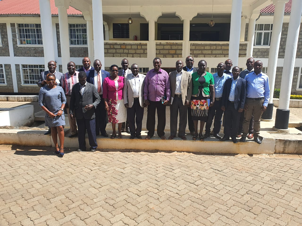 Inter agency  Technical Committee team with West Pokot Intergovernmental County Committee during M&E phase II  exercise.