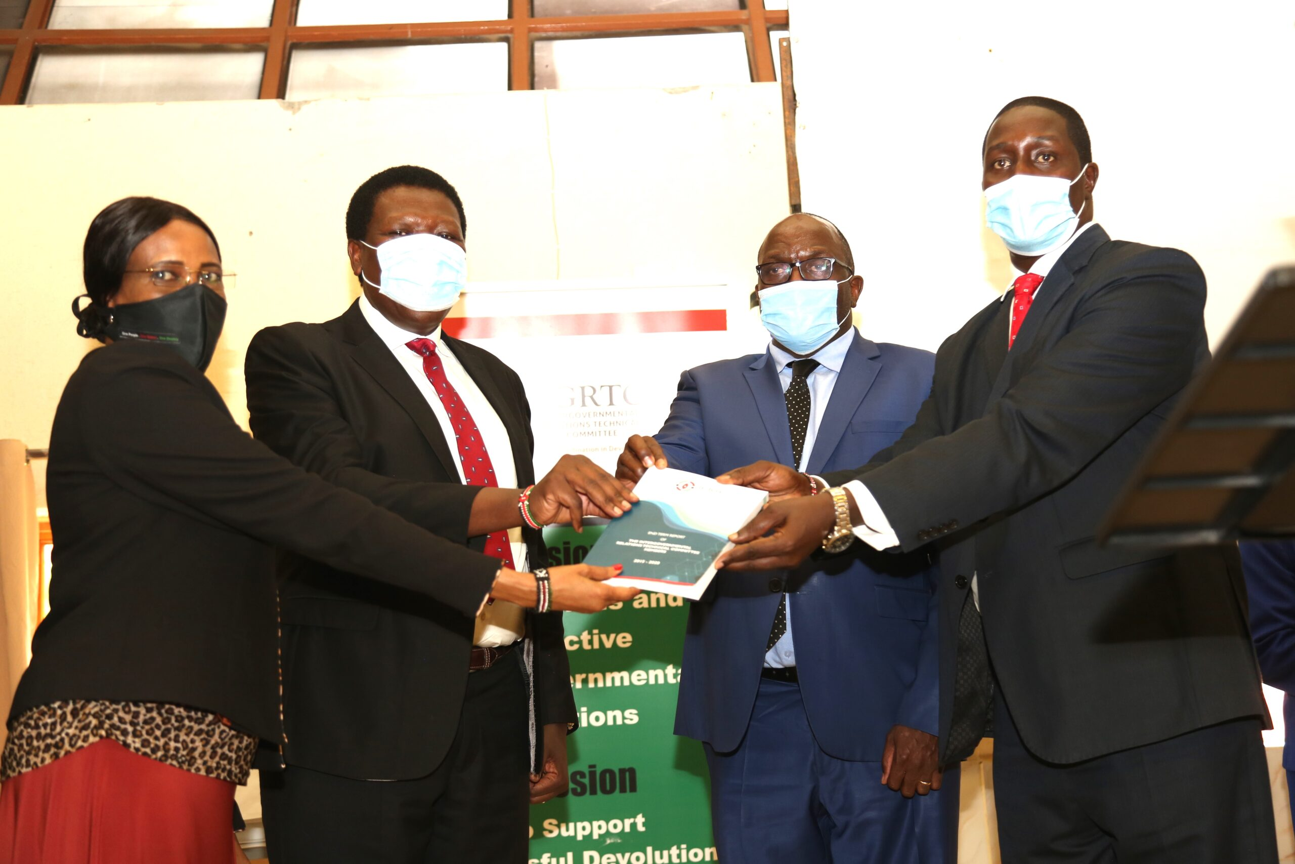 Handing over to the incoming IGRTC members Officiated by CS, Eugene Wamalwa on 13th July 2020