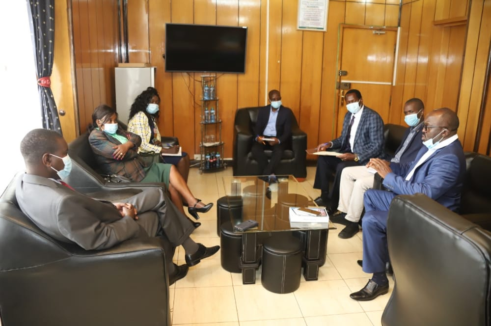 CEO IGRTC,with his Team Met with Governor- Uasin Gishu During M and E exercise