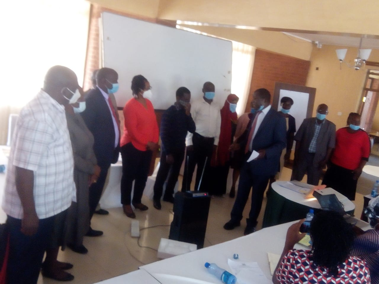 Hon Alfred Khangati , IGRTC Member in a Gender Sectoral Forum at Bungoma County on  15th September 2020.