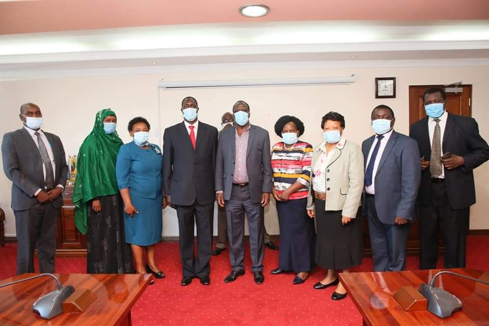IGRTC members in a courtesy call with COG Chairman On 21 January 2021