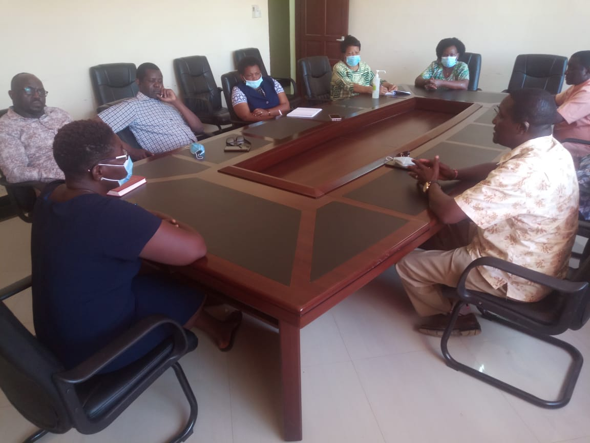 IGRTC Members  and CEO in a Courtesy call meeting with Taita Taveta County Commissioner