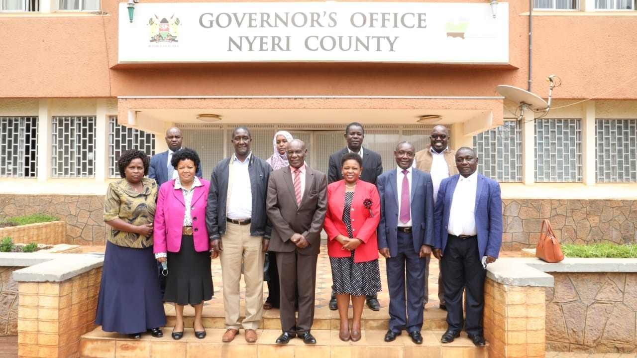 IGRTC Members in ADR meeting with Nyeri County on 4th March 2021