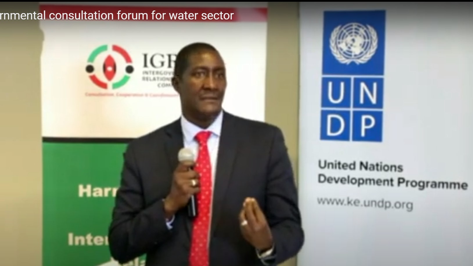 Intergovernmental consultation forum for the water sector