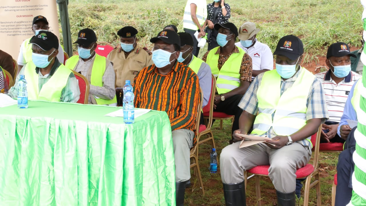 Ag. Chairman IGRTC among the leaders present during Tree Planting exercise as a buildup activity towards the 7th Devolution Conference to be held in Makueni County.